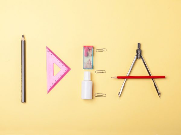 word-idea-stationery-objects-and-tools-PJNKXCF